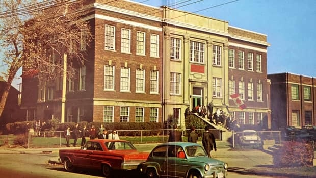 The building that Mission Services officially opens on Thursday has had many lives as a house of education. This shot from the 1960s is when the name over the door was Hamilton Institute of Technology.