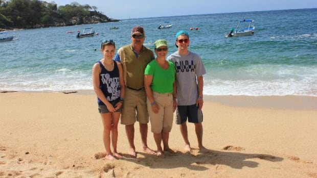 The Hennes family while on vacation in Puerto Vallarta, Mexico.