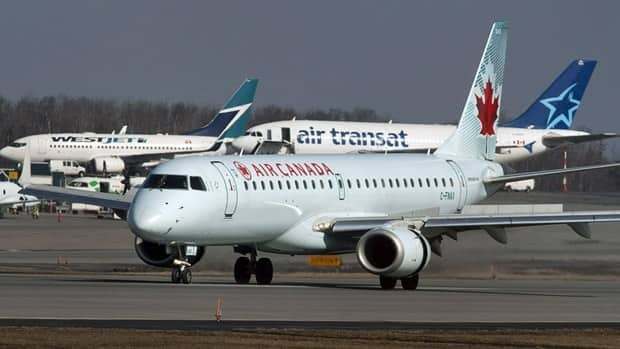 An Air Canada jet taxis at Halifax Stanfield International Airport in Enfield, N.S. on Thursday, March 8, 2012.