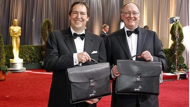 At awards ceremonies in Canada, there are efforts to ensure the results are carefully delivered, although perhaps not amid the glamour that can rival what PwC accountants Rick Rosas, left, and Brad Oltmans experienced at the Academy Awards on Feb. 26, 2012.