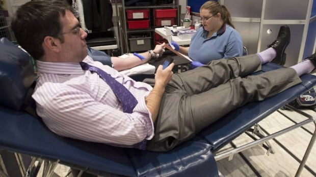 Health Canada says payment for blood donations is currently allowed in all provinces and territories with the exception of Quebec.