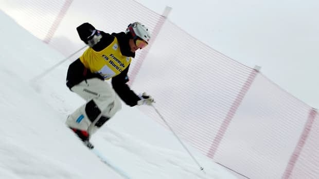 Canadian Mikael Kingsbury, shown in this file photo, took home freestyle mogul gold at an event in Ruka, Finland on Saturday.