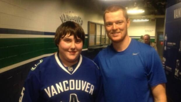 16-year-old goaltender Cory Oskam meets his idol, Vancouver Canuck Cory Schneider.