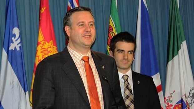 NDP MP Kennedy Stewart discusses his motion to allow e-petitions in the House of Commons at a news conference Friday.