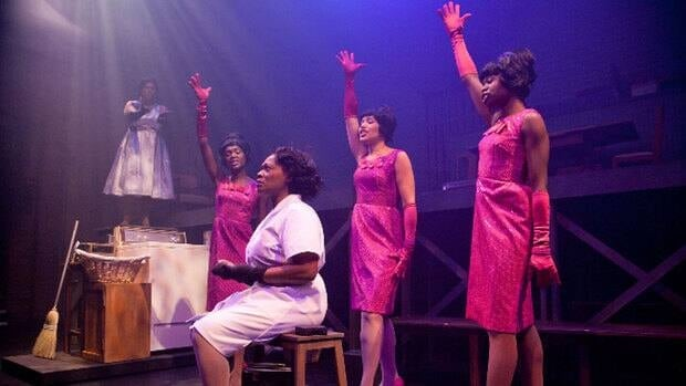 The strong cast of Caroline, or Change includes, from left, Londa Larmond, Jewelle Blackman, Arlene Duncan, Alana Hibbert and Neema Bickersteth.