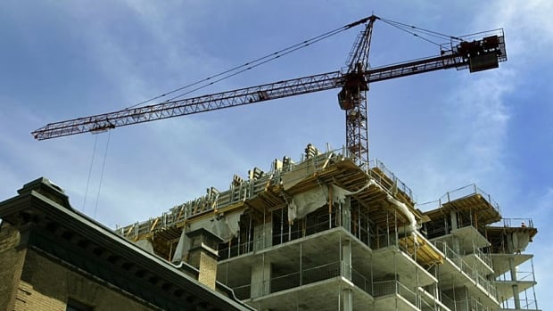 Condo construction pushed Canada's housing start rate higher in May.