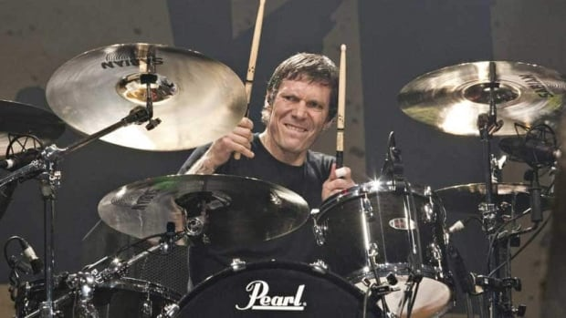 Billy Talent drummer Aaron Solowoniuk, seen performing in 2010, had heart surgery last year, after recording Dead Silence. He was back on the drums for the filming of the Viking Death March video.
