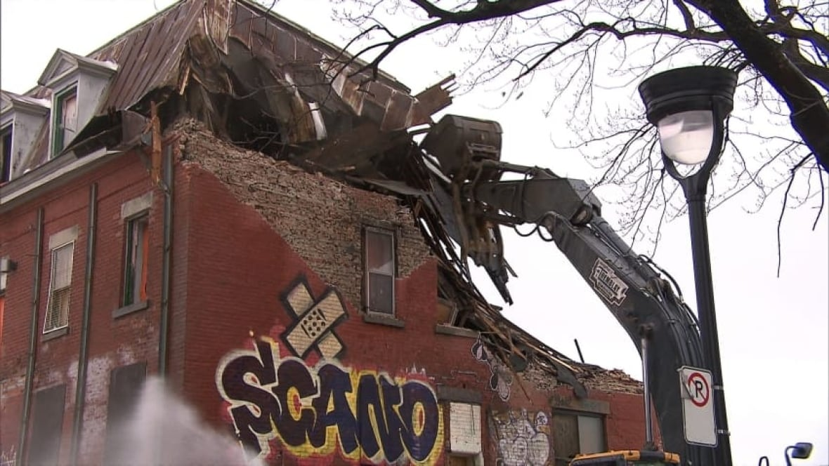 historic pr233fontaine centre demolished to make way for