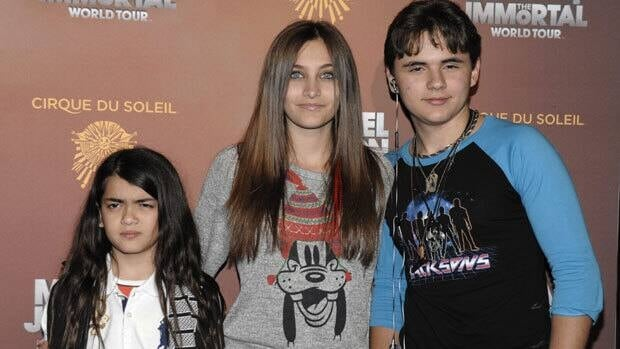 From left to right, Blanket Jackson, Paris Jackson, and Prince Michael Jackson are show Jan. 27. The Jackson family is embroiled in a dispute over their custody.