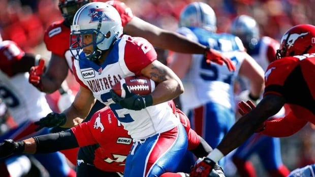 Alouettes running back Brandon Whitaker is fourth in CFL rushing through 12 weeks of the season, putting up 631 yards and four touchdowns.