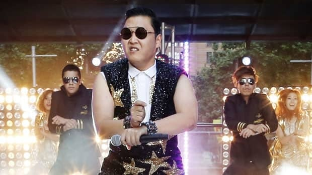South Korean singer PSY performs his hit Gangnam Style during a morning television appearance in central Sydney in October. On Saturday afternoon, the song's music video became the most viewed video on YouTube of all time.