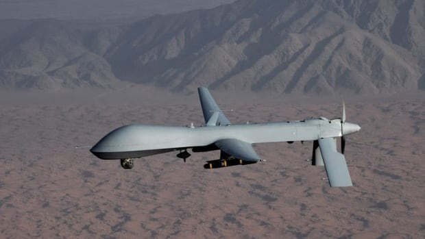 A U.S. Air Force Predator unmanned aircraft, similar to this one, was shot at twice by an Iranian attack plane in international airspace over the Gulf, the Pentagon says.