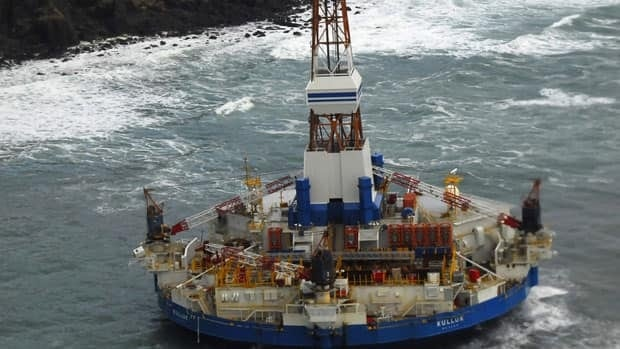 The conical drilling unit Kulluk was grounded 64 kms southwest of Kodiak, Alaska, in 2012.