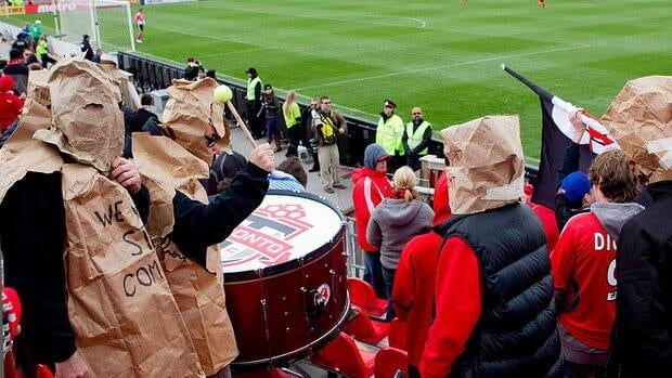 It's been a trying season for Toronto FC fans, some of whom have sported paper bags of late as a protest against the team's performance.