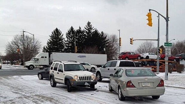 Slippery conditions and snow-covered roads caused some motorists to collide Thursday morning in Essex County.