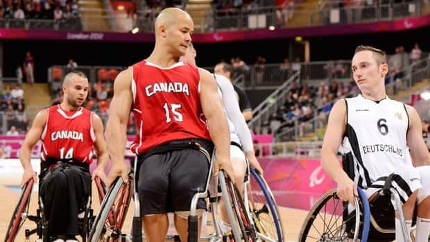 Canada's David Eng Paralympic Committee-Matthew Murnaghan plays at the 2012 Paralympics in London.