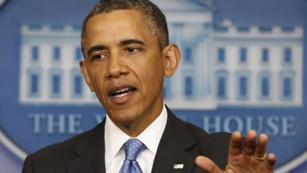 U.S. President Barack Obama gestures while talking in the Brady Press Briefing Room at the White House on Tuesday.