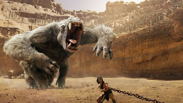 A film image released by Disney shows a scene from the $250-million action movie John Carter. Disney movie studio head Rich Ross stepped down after the studio lost $200 million from the film.