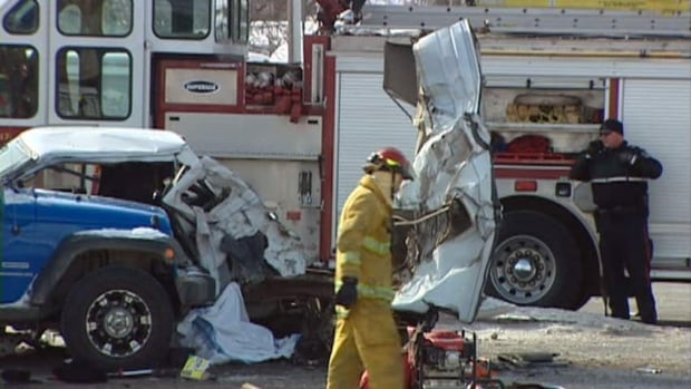 A 68-year-old man was killed Wednesday following a multi-vehicle crash on Regina's east side.