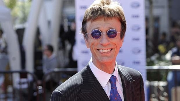 Robin Gibb, shown in Los Angeles in 2010, was too ill to sing at the premiere of his piece The Titanic Requiem in London earlier this month.
