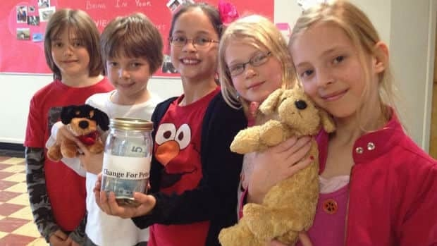 Students at Alexander Ferguson School are donating money to the Calgary Humane Society for Valentine's Day.