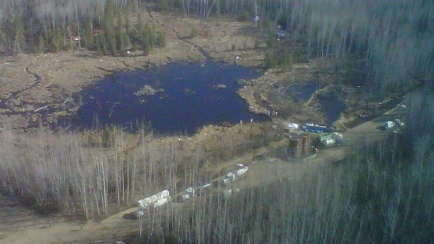 A pipeline leaked 28,000 barrels of oil into a nearby muskeg and a beaver pond in April 2011.