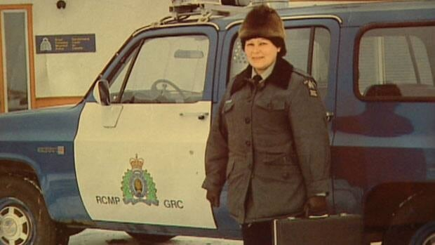 Marge Hudson is shown on an RCMP poster sometime after she joined the police force in 1979. Hudson was the first aboriginal female Mountie in Manitoba, making her a poster girl in the male-dominated institution.