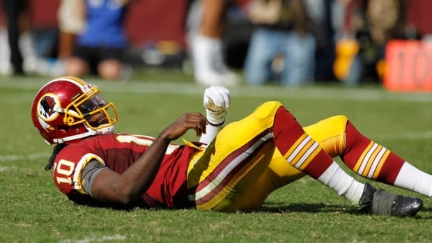 Washington Redskins Robert Griffin III, shown here during a Sept. 23 game,