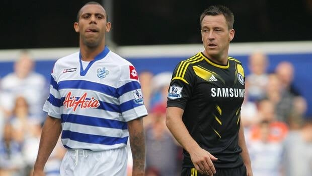 Chelsea captain John Terry, right, was found guilty of directing abuse at Queens Park Rangers' Anton Ferdinand, left, despite being cleared by a criminal court in July.