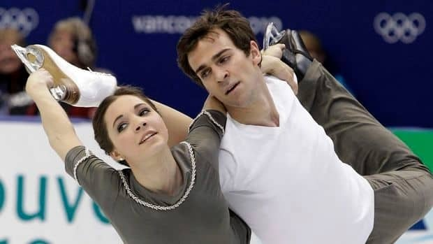 Bryce Davison, seen here skating with then-partner Jessica Dubé at the Vancouver 2010 Olympics, is now a coach for the Hamilton Skating Club.
