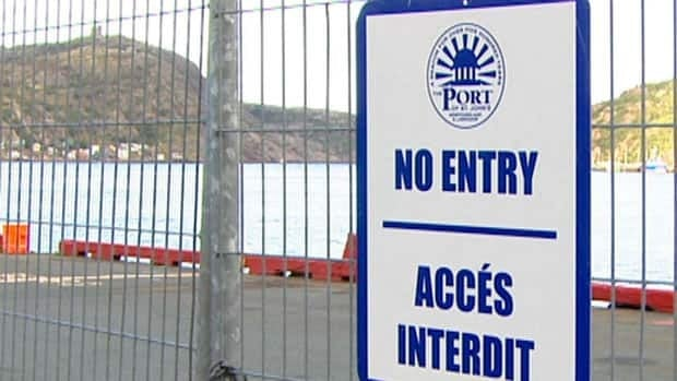 The St. John's Port Authority intends to replace this temporary fence with a permanent structure along part of the city's harbourfront.