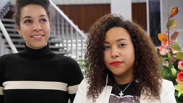 Erika (right) and Marissa Alexander will both be speaking at their grandfather's funeral Friday.