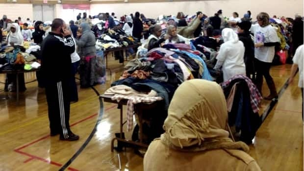 The Muslim Families Network Society held their semi-annual food and clothing distribution Sunday in Calgary.