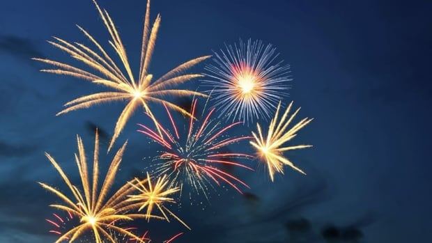 Yellowknife's annual New Year's Eve fireworks display will go on tonight despite extreme cold. The City of Whitehorse will also have a display, while Iqaluit holds a midnight snowmobile parade on Frobisher Bay. (CBC)