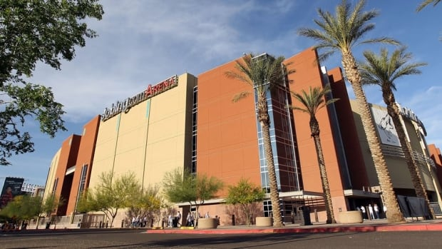Glendale city officials budgeted $6 million to operate Jobing.com Arena, but RSE projected between $8.5 million and $11 million in revenue from naming rights, parking, rent and other revenue streams to make up the difference.  General view of Jobing.com Arena in Glendale, Arizona.