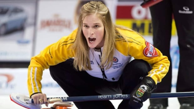 Manitoba skip Jennifer Jones, shown in this file photo, is off to the final at the Tournment of Hearts after defeating Team Canada on Sunday.