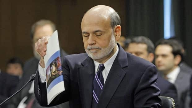 U.S. Federal Reserve Board Chairman Ben Bernanke arrives for a senate banking committee hearing on Tuesday.