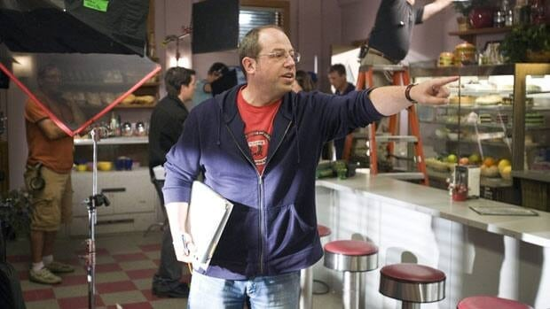 Brent Butt is shown in the last season of Corner Gas, shot in 2008. The show is selling off its props.