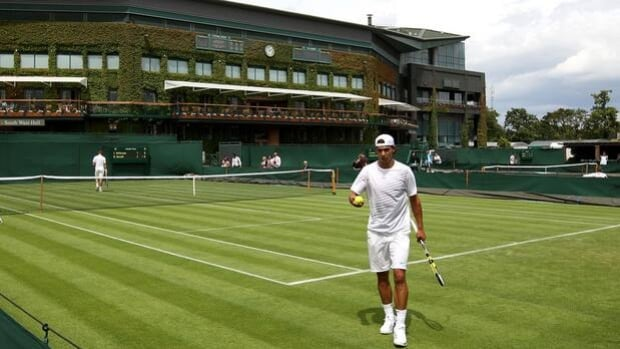 Two-time Wimbledon champion Rafael Nadal engages in a practice session over the weekend.
