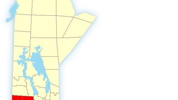 Environment Canada has a snow storm warning in effect for part of southern Manitoba.