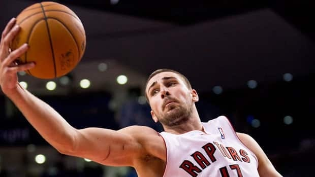 Jonas Valanciunas surprised even himself by earning the starting centre role for Toronto.