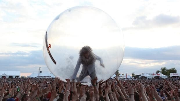 Wayne Coyne of The Flaming Lips performs at Bluesfest in 2011.