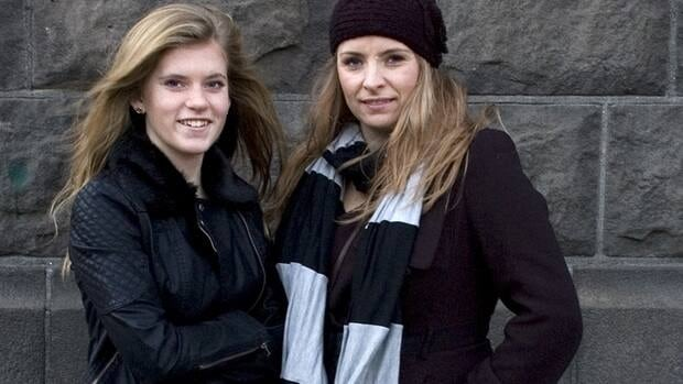 Blaer Bjarkardottir, 15, left,  seen with her mother, Bjork Eidsdottir, in Reykjavik, is bringing legal action against the Icelandic government to allow her to use her name, which is not on the list of 1,853 government-approved female names.
