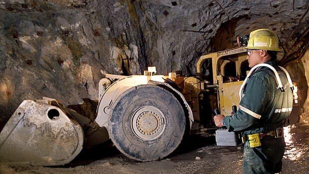 An operator runs heavy equipment by remote control in Cameco's Rabbit Lake mine in Saskatchewan.