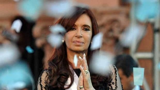 Argentina's President Cristina Fernandez gestures during a ceremony outside the Casa Rosada Presidential Palace in Buenos Aires Dec. 10, 2011.