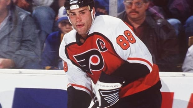 Eric Lindros was a big reason the Philadelphia Flyers won the Atlantic Division in the lockout-shortened 1994-95 season. He tied for the NHL scoring lead with 70 points in 46 games, and was later named league MVP.