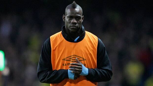 Mario Balotelli, seen warming up before a match earlier this month, was born in Sicily.