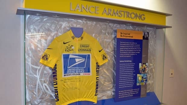 Lance Armstrong's Tour de France jersey has been on display at Thunder Bay's cancer centre since 2006. The hospital says it's going to stay, even though some patients say they'd like it taken down.