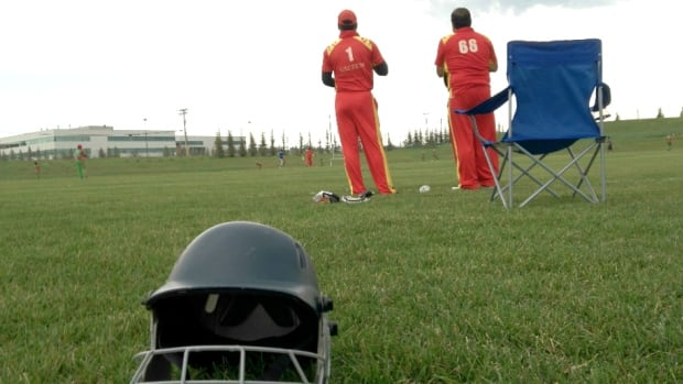 Teams at the Westwinds Cricket Pitch in Calgary's northeast. The city is getting a ninth pitch next year.