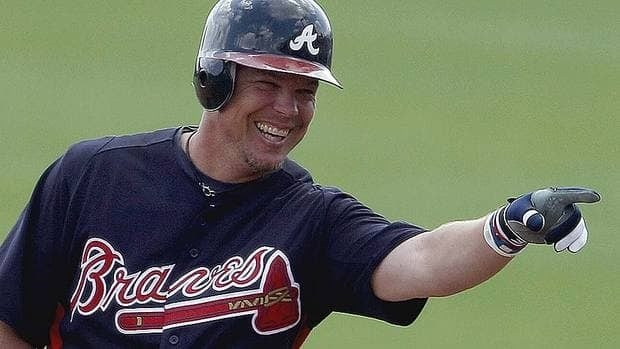 Chipper Jones has spent his entire 18-year career with the Braves, winning the National League MVP award in 1999.